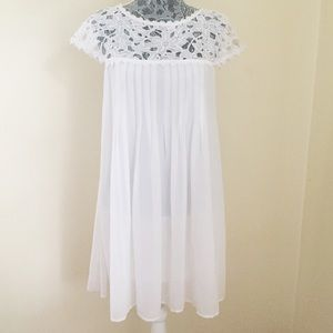 Darling DOUBLE ZERO Dress~Medium~White~Lace~Lined